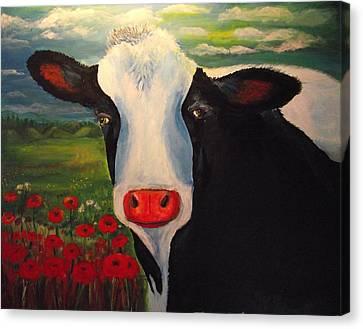 Sugar The Cow Canvas Print