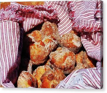 Sugared Donut Holes Canvas Print by Susan Savad