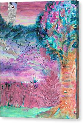 Sugarland Dream Tree  Canvas Print by Anne-Elizabeth Whiteway
