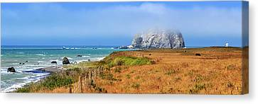 Canvas Print featuring the photograph Sugarloaf Island Panorama by James Eddy
