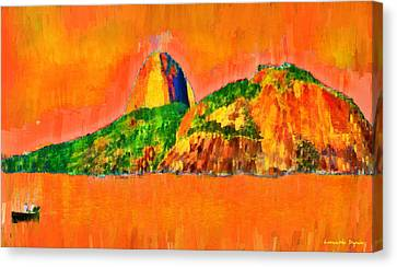 Complex Canvas Print - Sugarloaf Of Rio 21 - Pa by Leonardo Digenio