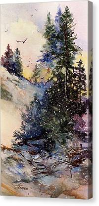 Canvas Print featuring the painting Sugarpines by Helen Harris