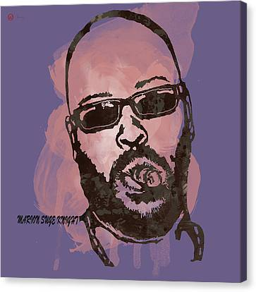 Suge Knight Pop Stylised Art Sketch Poster Canvas Print by Kim Wang