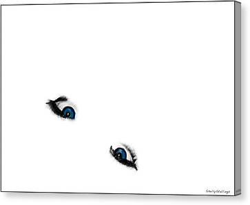 Suicide Eyes Canvas Print by Shelly Stallings