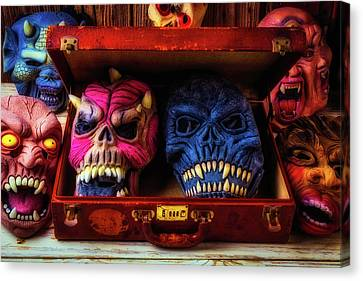 Suitcase Full Of Masks Canvas Print