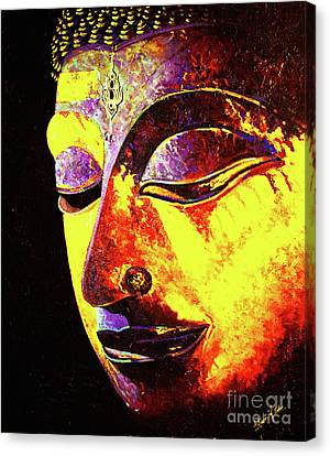 Sukhothai Buddha, The Thailand Collection Canvas Print by Jeffery Waz