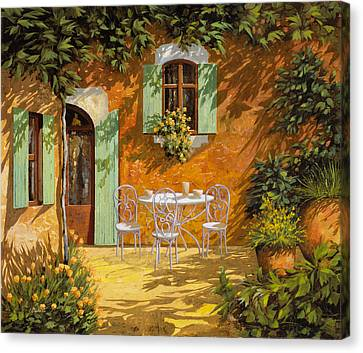 Sul Patio Canvas Print by Guido Borelli