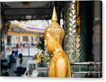 Canvas Print featuring the photograph Sule Pagoda Buddha by Dean Harte