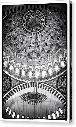 Byzantine Canvas Print - Suleymaniye Ceiling by John Rizzuto