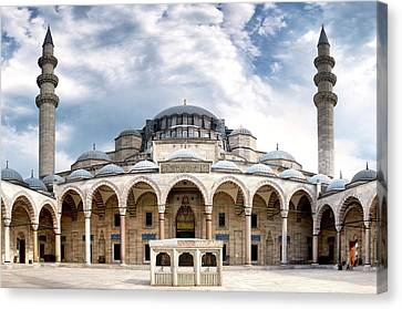 Canvas Print featuring the photograph Suleymaniye Mosque by Fabrizio Troiani