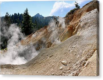 Western Usa Canvas Print - Sulfur Works In Lassen Volcanic Park by Christine Till