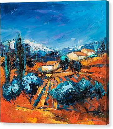 Italian Landscapes Canvas Print - Sulla Collina by Elise Palmigiani