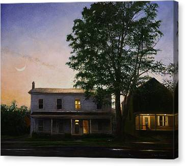 Canvas Print featuring the painting Sullivan Street by Wayne Daniels