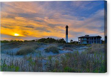 Sullivan's Island Lighthouse At Dusk - Sullivan's Island Sc Canvas Print