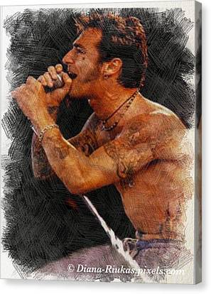 Sully Erna Singing Canvas Print