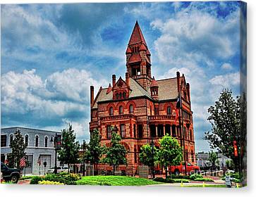 Sulphur Springs Courthouse Canvas Print by Diana Mary Sharpton
