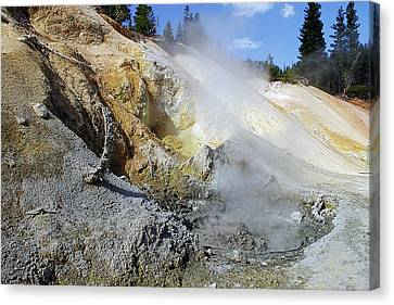 Sulphur Works - Lassen Volcanic National Park Canvas Print by Christine Till