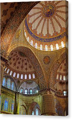 Canvas Print featuring the photograph Sultan Ahmed Mosque by Fabrizio Troiani