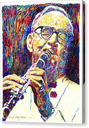 Sultan Of Swing - Benny Goodman Canvas Print by David Lloyd Glover