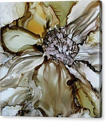 Canvas Print featuring the painting Sultry Petals by Joanne Smoley