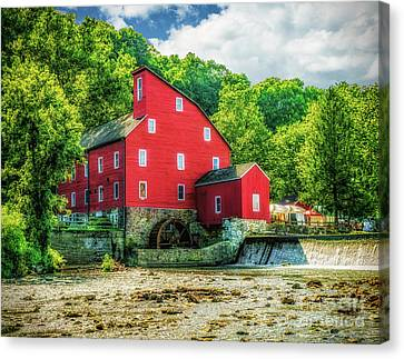 Summer View Of The Red Mill Canvas Print