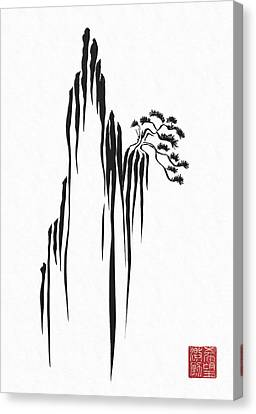 Sumi-e - Bonsai - One Canvas Print