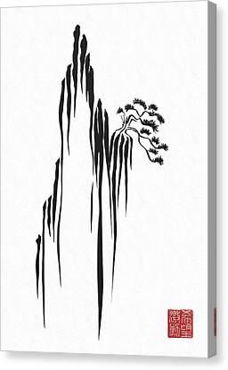 Sumi-e - Bonsai - One Canvas Print by Lori Grimmett