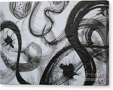 Sumie 1 By Taikan Canvas Print by Taikan Nishimoto