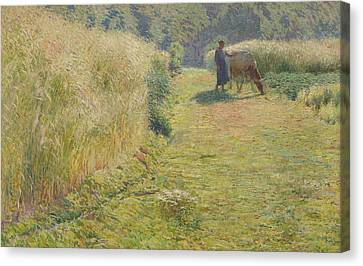 Summer, 1893 Canvas Print by Emile Claus