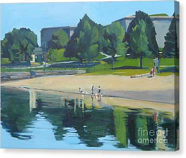 Summer At Castle Island Canvas Print by Deb Putnam