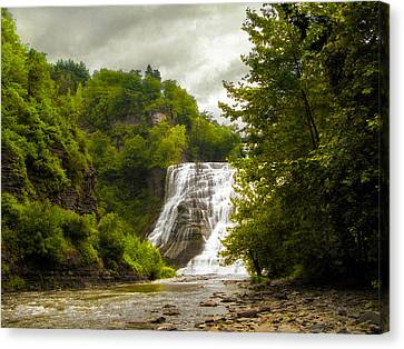 Summer At Ithaca Falls Canvas Print by Jessica Jenney