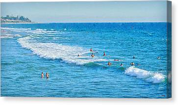 Exhilarating Canvas Print - Summer At San Clemente Beach by Glenn McCarthy Art and Photography
