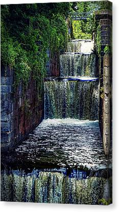 Summer At The Five Combines Canvas Print