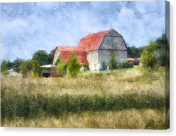 Canvas Print featuring the digital art Summer Barn by Francesa Miller