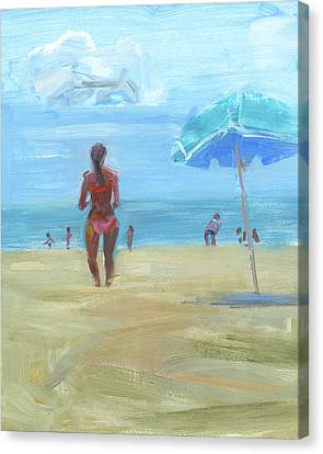 Summer Beach Canvas Print by Chris N Rohrbach