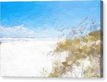 Summer Beach Dunes Canvas Print