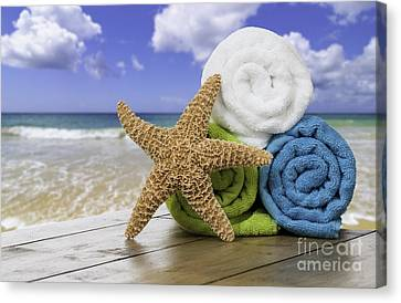 Summer Beach Towels Canvas Print
