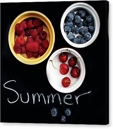 Canvas Print featuring the photograph Summer Berries by Rebecca Cozart