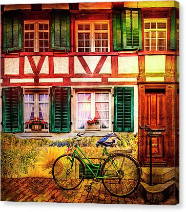 Summer Bicycle Canvas Print
