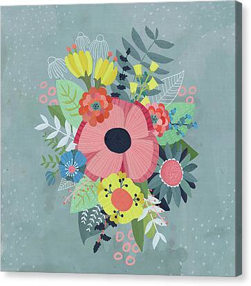 Wedding Bouquet Canvas Print - Summer Blossoms by Kelly Angelovic