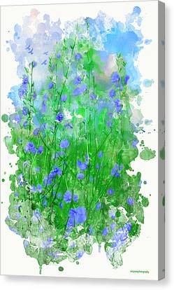 Summer Blue Canvas Print by Ron Jones