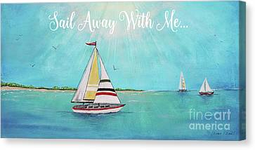 Canvas Print featuring the painting Summer Breeze-c by Jean Plout