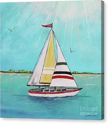 Canvas Print featuring the painting Summer Breeze-d by Jean Plout