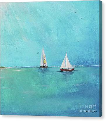 Canvas Print featuring the painting Summer Breeze-e by Jean Plout