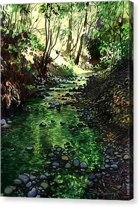 Summer Brook Canvas Print by Sergey Zhiboedov