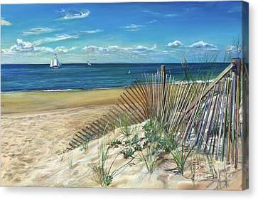 Sand Fences Canvas Print - Summer Cascade by Laura Balboni Craciun