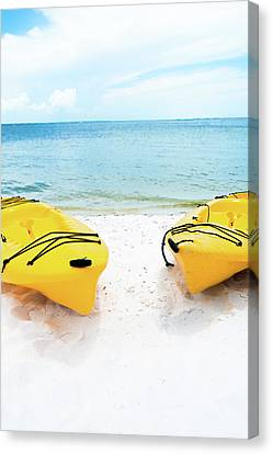 Summer Colors On The Beach Canvas Print by Shelby Young