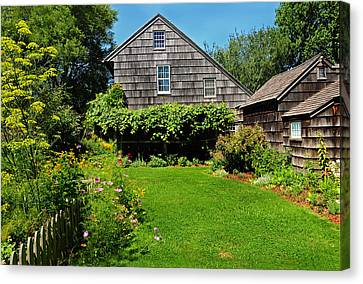 Summer Cottage Canvas Print by JoAnn Lense