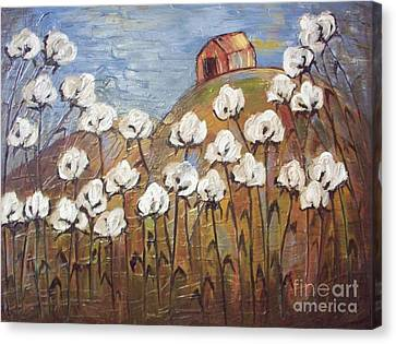 Cotton Farm Canvas Print - Summer Cotton by Emily Martinez