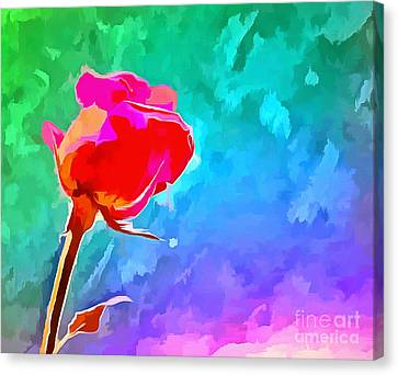 Floral Digital Art Canvas Print - Summer Crush by Krissy Katsimbras
